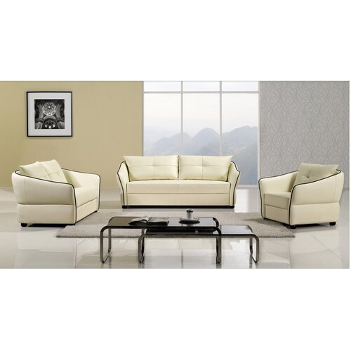Hokku Designs Keaton Sofa Set