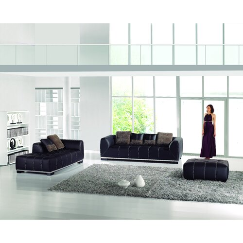 Hokku Designs Neice Sofa with Ottoman