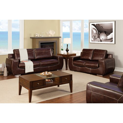 Enitial Lab Elvira Leatherette Sofa and Loveseat Set