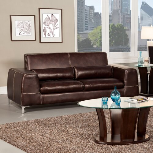 Gordon Leatherette Sleeper Sofa
