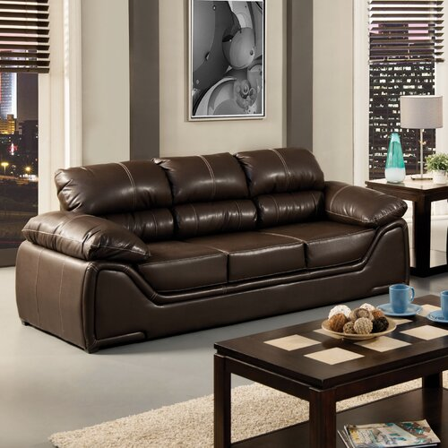 Hokku Designs Velasco Leatherette Sleeper Sofa