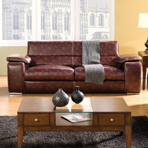 Esteban Leatherette Sleeper Sofa