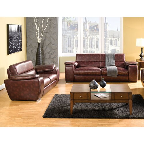 Enitial Lab Esteban Leatherette Sofa and Loveseat Set