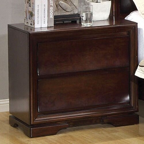 Enitial Lab Amber 2 Drawer Nightstand