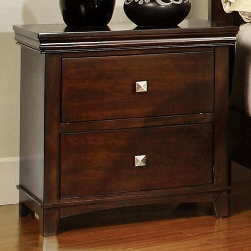 Hokku Designs Bellwood 2 Drawer Nightstand
