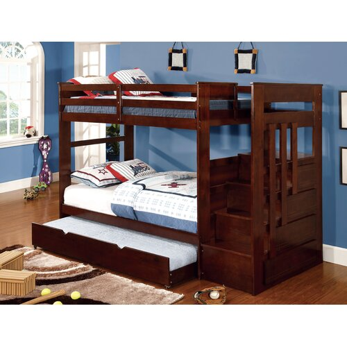 Hokku Designs Monsiac Twin Over Twin Bunk Bed