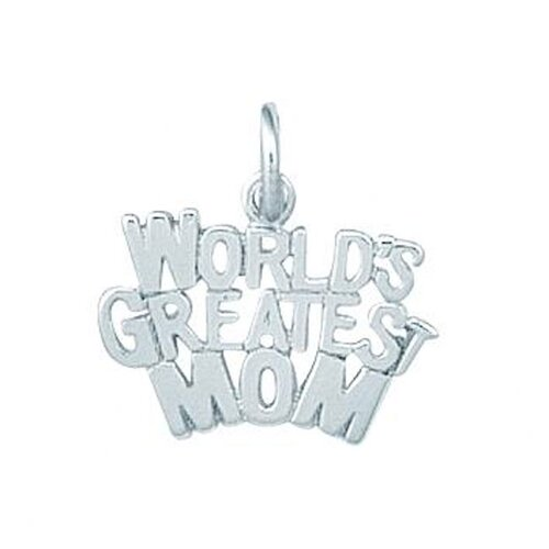 EZ Charms Sterling Silver World's Greatest Mom Charm