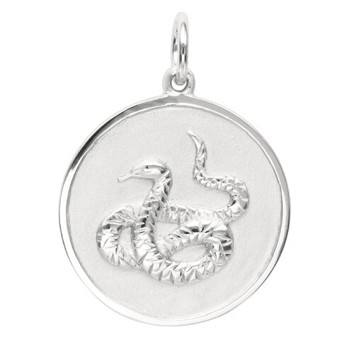EZ Charms 2.3 Grams Sterling Silver Snake Charm