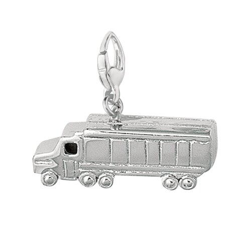 EZ Charms Sterling Silver Transport Truck Charm
