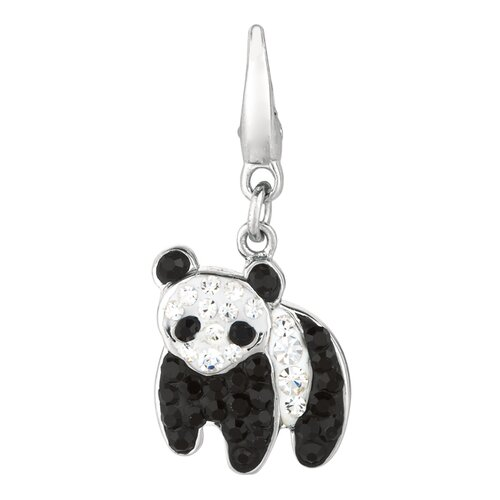 Crystal Panda Charm with Swarovski Elements