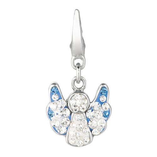 EZ Charms Crystal Angel Charm with Swarovski Elements