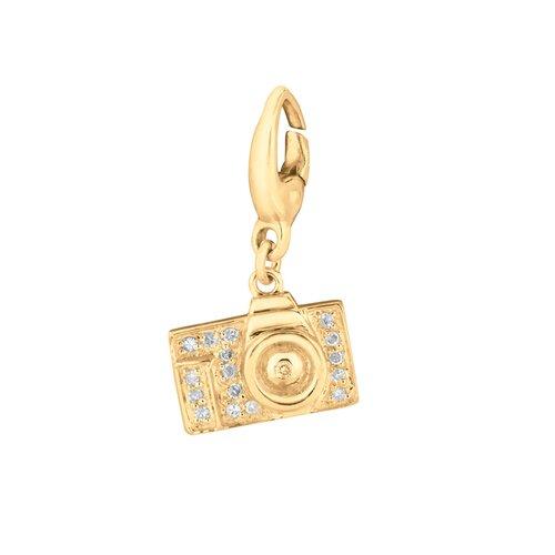 EZ Charms Diamond Camera Pendant