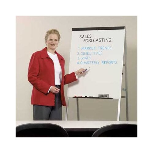 Draper DR Series Heavy-Duty Non-Folding A-Frame with Powdercoat Whiteboard Easel