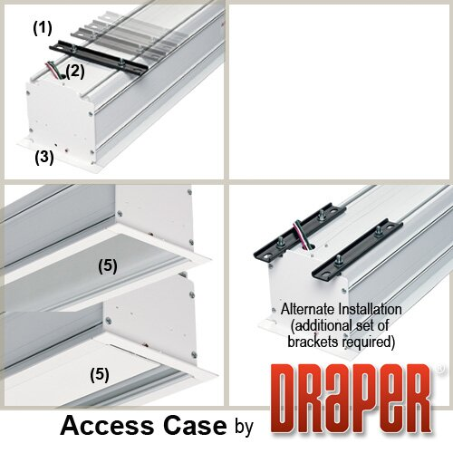 Draper Access/Series M Matt White Electric Projection Screen