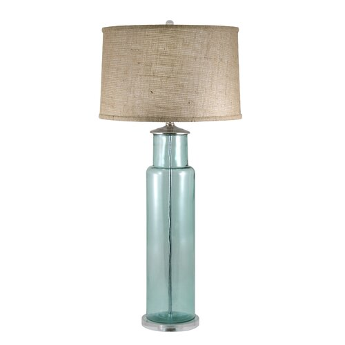 "Lamp Works Recycled Glass 30"" H Table Lamp with Drum Shade"