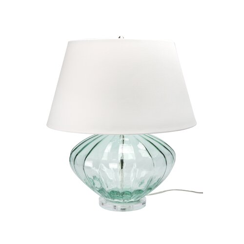 """Lamp Works Recycled Glass 25"""" H Table Lamp with Empire Shade"""