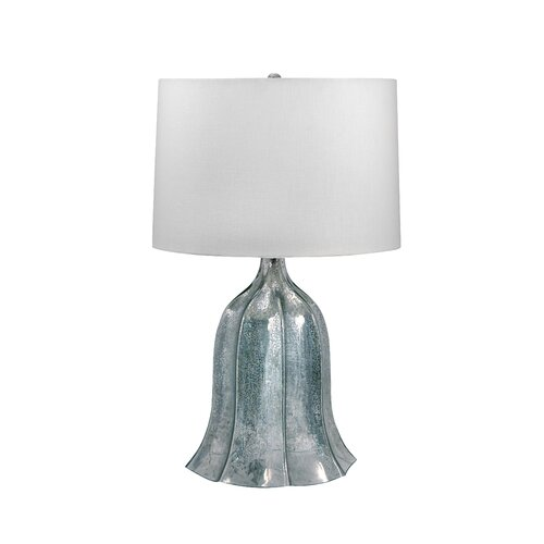 """Lamp Works Fluted Mercury 26"""" H Table Lamp with Drum Shade"""