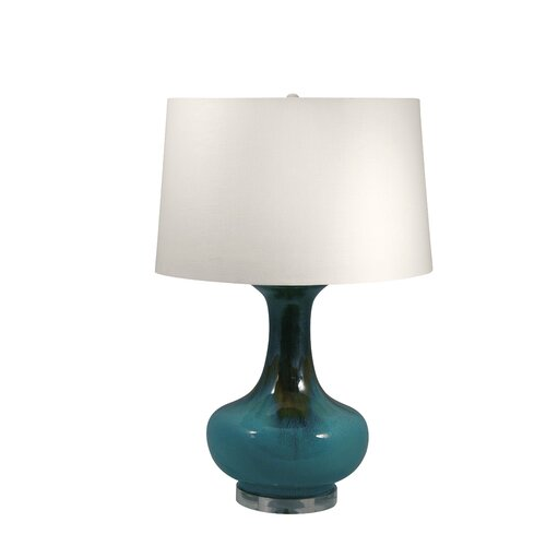 "Lamp Works Drip Glaze 27"" H Table Lamp with Empire Shade"