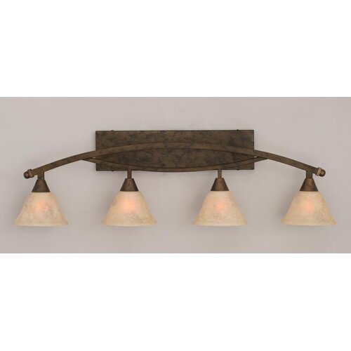Toltec Lighting Bow 4 Light Bathroom Vanity Light