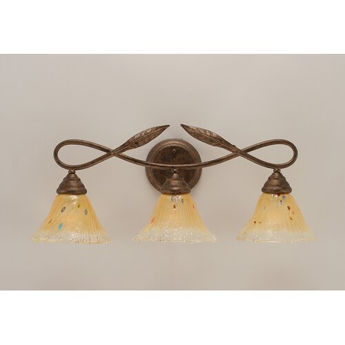 Toltec Lighting Leaf 3 Light Bathroom Vanity Light