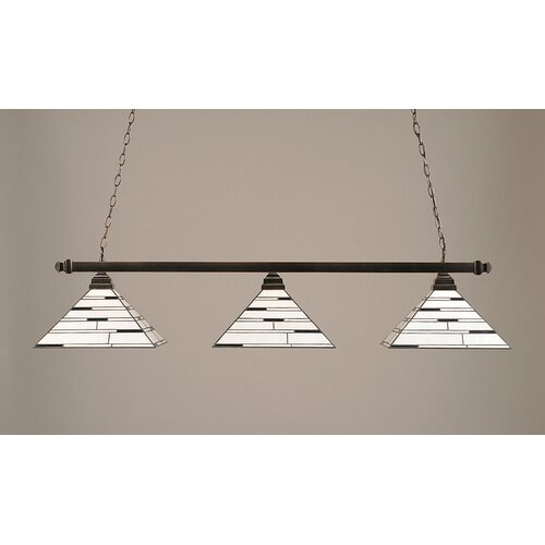 Toltec Lighting 3 Light Square Kitchen Island Pendant