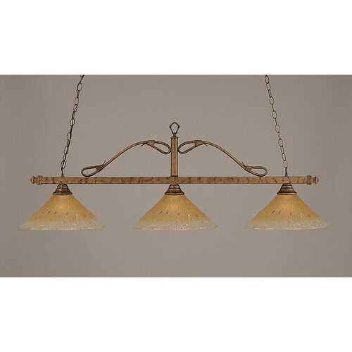 3 light wrought iron rope kitchen island pendant wayfair. Black Bedroom Furniture Sets. Home Design Ideas