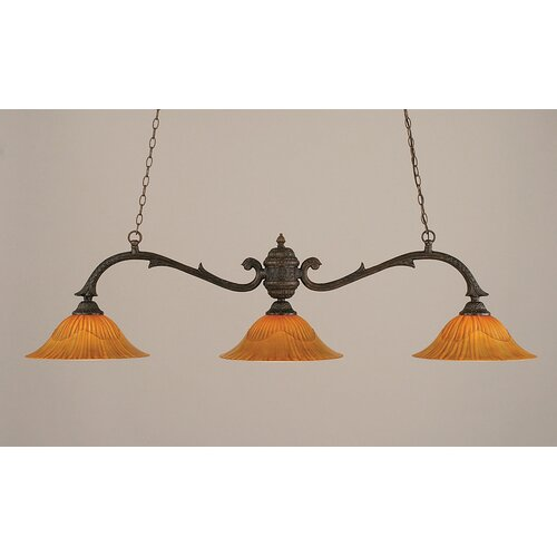 Olde Manor 3 Light Octopus Kitchen Island Pendant