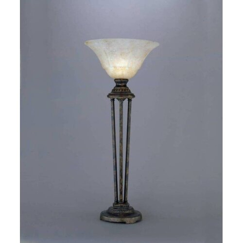 """Toltec Lighting Italian 32"""" H Table Lamp with Bell Shade"""