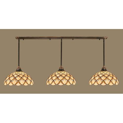 Toltec Lighting 3 Light Multi Light Pendant With Hang Straight Swivels