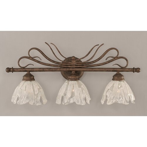 Toltec Lighting Swan 3 Light Bathroom Vanity Light
