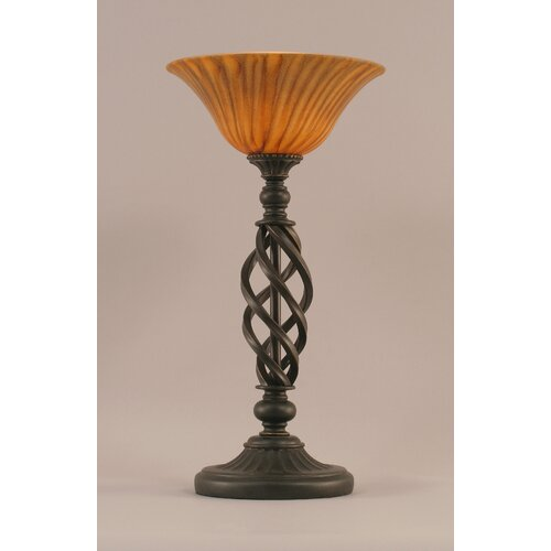 "Toltec Lighting Elegante 20"" H Table Lamp with Tiger Glass"