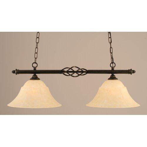 Toltec Lighting Eleganté 2 Light Kitchen Island Pendant