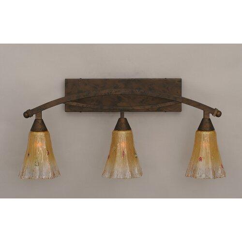Toltec Lighting Bow 3 Light Bath Vanity Light