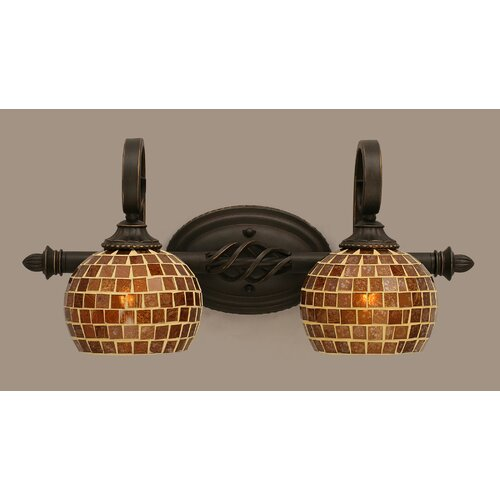 Toltec Lighting Elegante 2 Light Bath Vanity Light