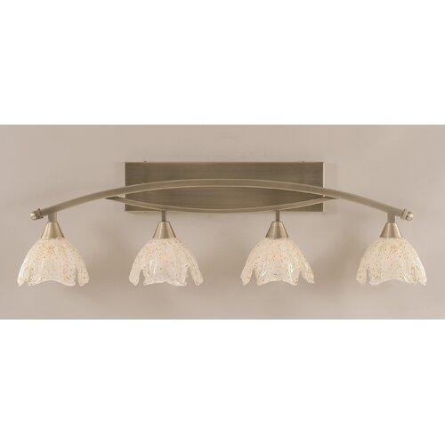 Toltec Lighting Bow 4 Light Bath Vanity Light