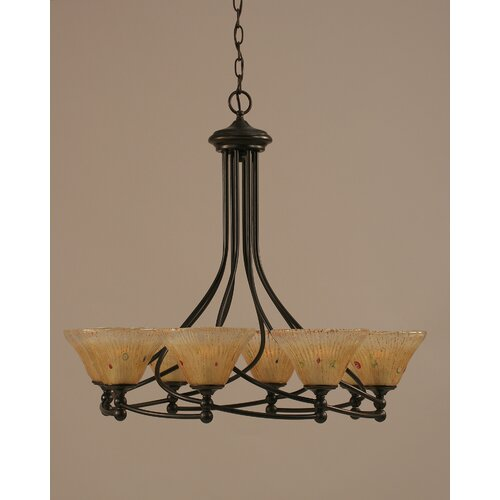 Toltec Lighting Capri 8 Light Chandelier