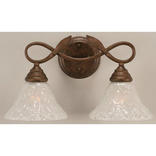 Toltec Lighting Leaf 2 Light Bathroom Vanity Light