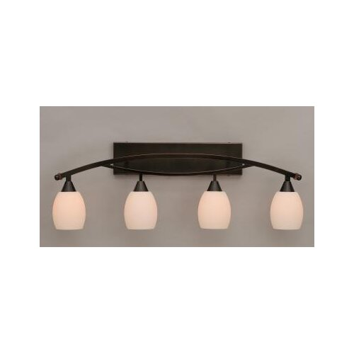 Toltec Lighting Bow 4 Light Bath Vanity Light