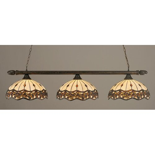 Toltec Lighting 3 Light Round Kitchen Island Pendant