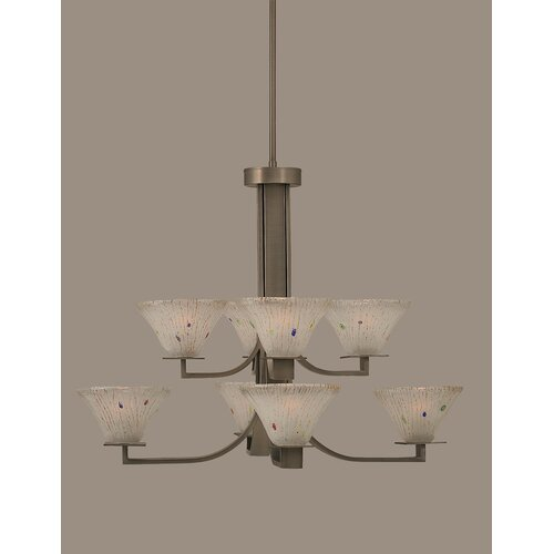 Apollo 8 Light Chandelier With Hang Straight Swivel