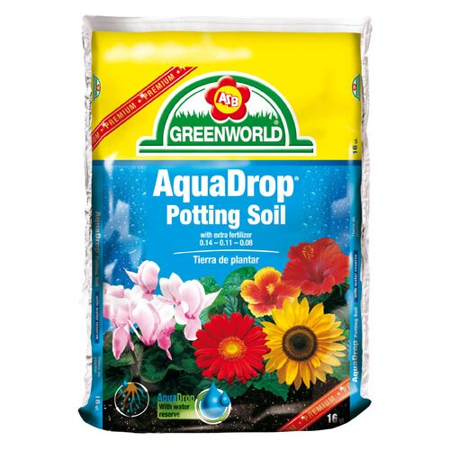 ASB Greenworld AquaDrop, Water Controlled Potting Soil With Nine Month Fertilizer (3/Box)