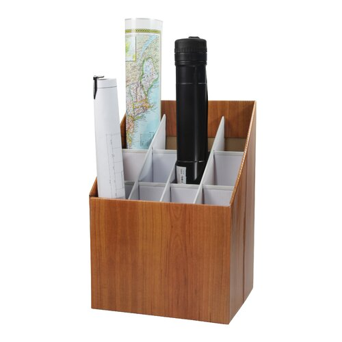 Adir Corp Upright Roll File Filing Box