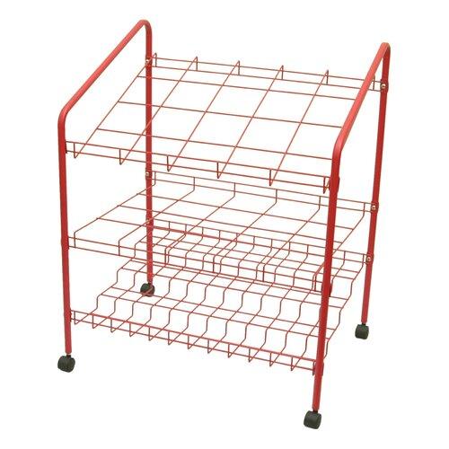 Adir Corp 12 Opening Wire Bin Roll File Filing Cart
