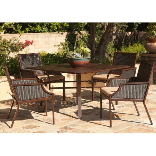 AIC Garden & Casual Hudson Dining Arm Chairs with Cushions (Set of 2)