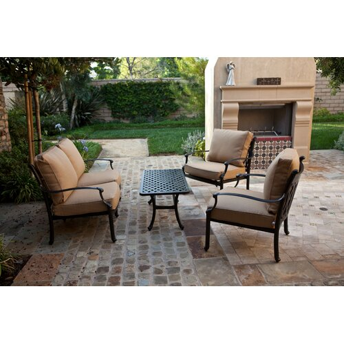 AIC Garden & Casual Newport 4 Piece Deep Seating Group