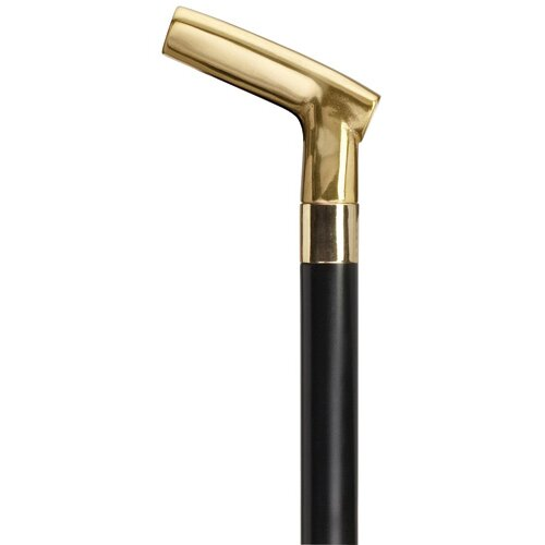 Harvy Solid Cast Brass Golf Putter Shape Handle Cane