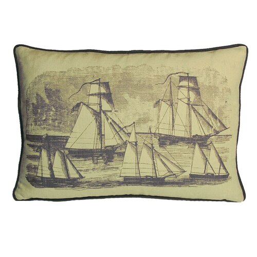Kevin O'Brien Studio Sailboats Decorative Pillow