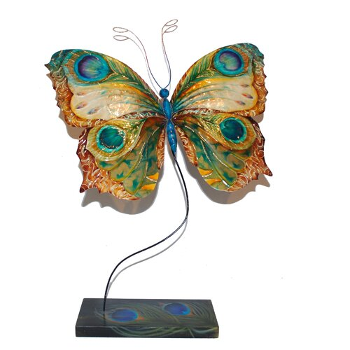 Eangee Home Design Table Butterfly Peacock Sculpture