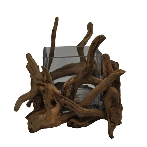 Driftwood Square Glass Bowl