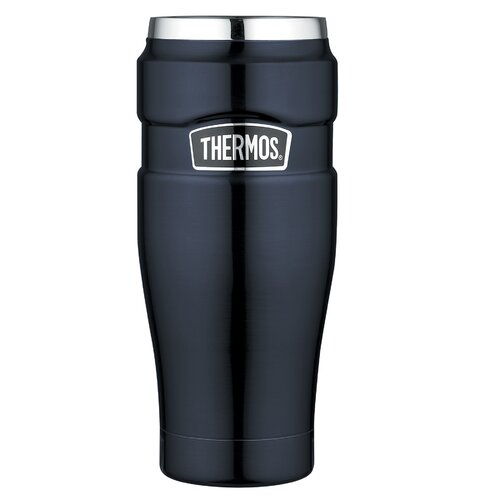 Thermos King 16 oz Leak Proof Travel Mug with Handle in Midnight Blue